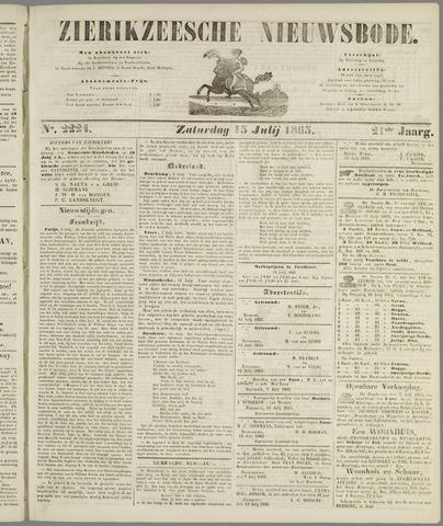 Zierikzeesche Nieuwsbode 1865-07-15