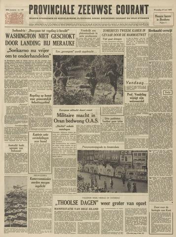 Provinciale Zeeuwse Courant 1962-06-27