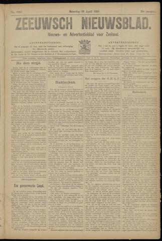 Ter Neuzensch Volksblad. Vrijzinnig nieuws- en advertentieblad voor Zeeuwsch- Vlaanderen / Zeeuwsch Nieuwsblad. Nieuws- en advertentieblad voor Zeeland 1919-04-26