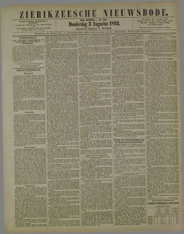 Zierikzeesche Nieuwsbode 1893-08-03
