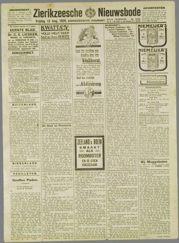 Zierikzeesche Nieuwsbode 1926-08-13