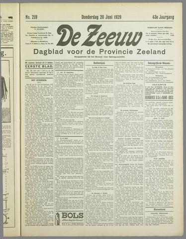 De Zeeuw. Christelijk-historisch nieuwsblad voor Zeeland 1929-06-20