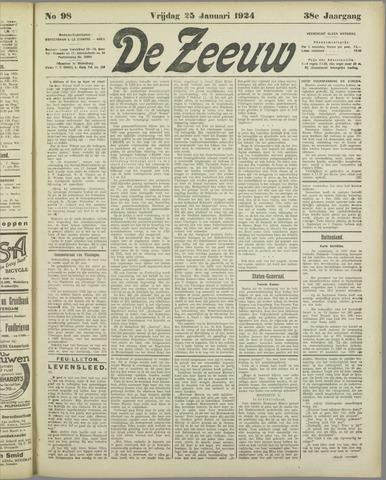 De Zeeuw. Christelijk-historisch nieuwsblad voor Zeeland 1924-01-25