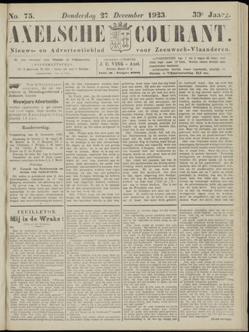 Axelsche Courant 1923-12-27