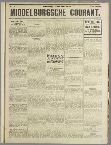Middelburgsche Courant 1927-01-17