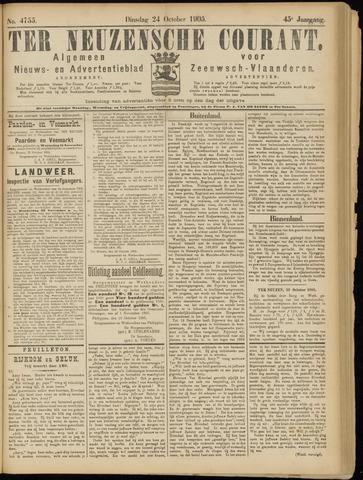 Ter Neuzensche Courant. Algemeen Nieuws- en Advertentieblad voor Zeeuwsch-Vlaanderen / Neuzensche Courant ... (idem) / (Algemeen) nieuws en advertentieblad voor Zeeuwsch-Vlaanderen 1905-10-24