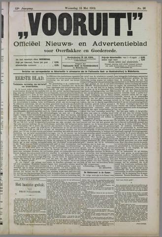 """""""Vooruit!""""Officieel Nieuws- en Advertentieblad voor Overflakkee en Goedereede 1912-05-15"""