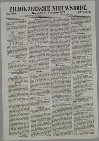 Zierikzeesche Nieuwsbode 1874-08-11