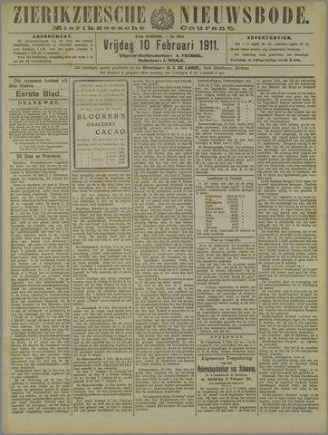 Zierikzeesche Nieuwsbode 1911-02-10