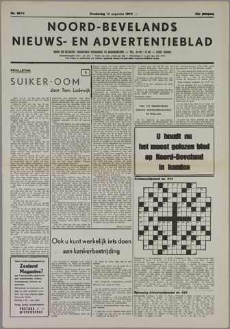 Noord-Bevelands Nieuws- en advertentieblad 1979-08-16