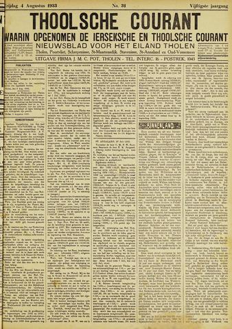 Ierseksche en Thoolsche Courant 1933-08-04