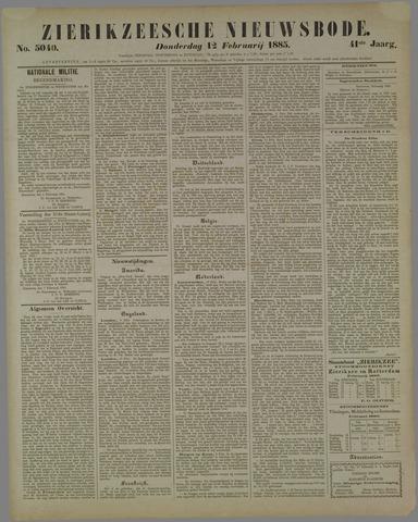 Zierikzeesche Nieuwsbode 1885-02-12