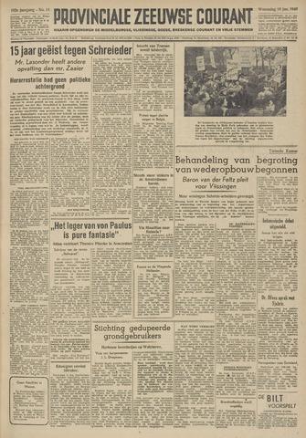 Provinciale Zeeuwse Courant 1949-01-19