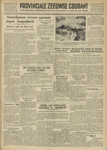 Provinciale Zeeuwse Courant 1950-07-13