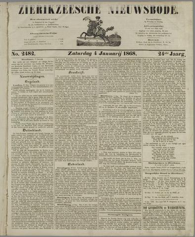 Zierikzeesche Nieuwsbode 1868