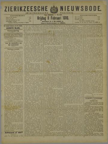 Zierikzeesche Nieuwsbode 1916-02-11