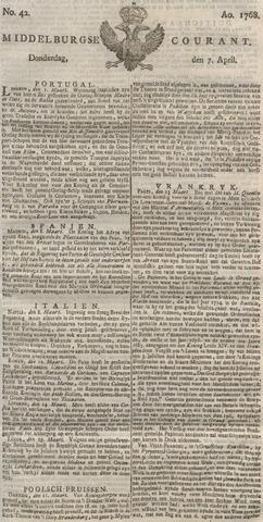 Middelburgsche Courant 1768-04-07