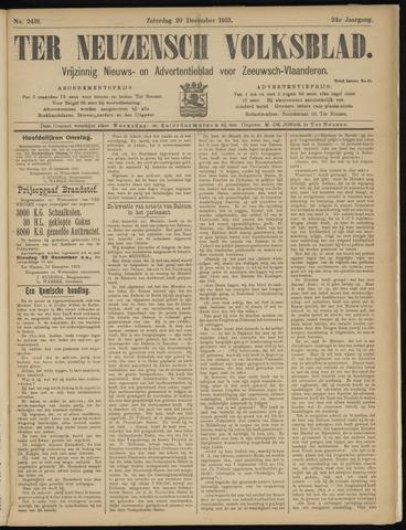 Ter Neuzensch Volksblad. Vrijzinnig nieuws- en advertentieblad voor Zeeuwsch- Vlaanderen / Zeeuwsch Nieuwsblad. Nieuws- en advertentieblad voor Zeeland 1913-12-20