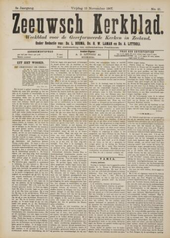 Zeeuwsche kerkbode, weekblad gewijd aan de belangen der gereformeerde kerken/ Zeeuwsch kerkblad 1907-11-15