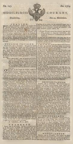 Middelburgsche Courant 1764-11-29
