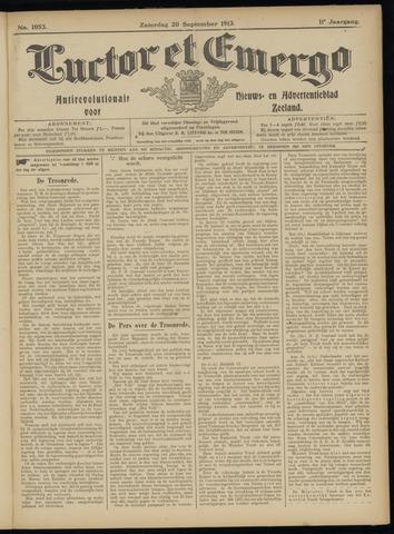Luctor et Emergo. Antirevolutionair nieuws- en advertentieblad voor Zeeland / Zeeuwsch-Vlaanderen. Orgaan ter verspreiding van de christelijke beginselen in Zeeuwsch-Vlaanderen 1913-09-20