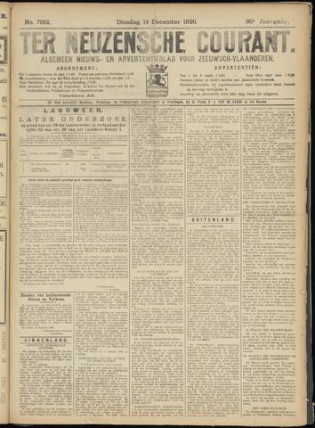 Ter Neuzensche Courant. Algemeen Nieuws- en Advertentieblad voor Zeeuwsch-Vlaanderen / Neuzensche Courant ... (idem) / (Algemeen) nieuws en advertentieblad voor Zeeuwsch-Vlaanderen 1920-12-14