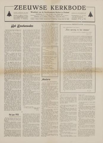 Zeeuwsche kerkbode, weekblad gewijd aan de belangen der gereformeerde kerken/ Zeeuwsch kerkblad 1955-12-23