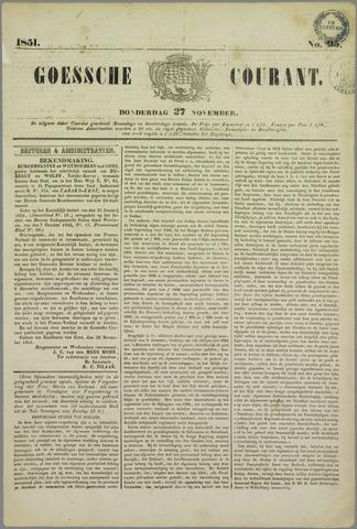 Goessche Courant 1851-11-27
