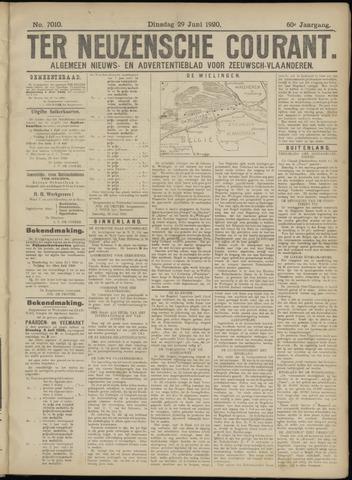 Ter Neuzensche Courant. Algemeen Nieuws- en Advertentieblad voor Zeeuwsch-Vlaanderen / Neuzensche Courant ... (idem) / (Algemeen) nieuws en advertentieblad voor Zeeuwsch-Vlaanderen 1920-06-29