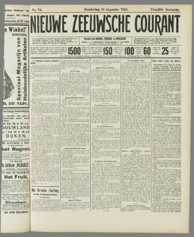 Nieuwe Zeeuwsche Courant 1916-08-10