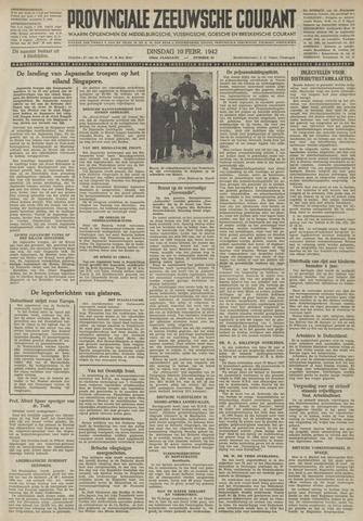Provinciale Zeeuwse Courant 1942-02-10