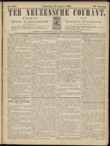 Ter Neuzensche Courant. Algemeen Nieuws- en Advertentieblad voor Zeeuwsch-Vlaanderen / Neuzensche Courant ... (idem) / (Algemeen) nieuws en advertentieblad voor Zeeuwsch-Vlaanderen 1900-08-16