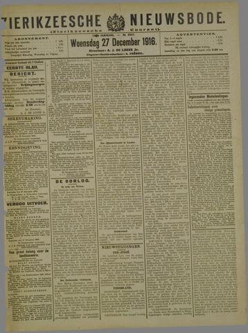 Zierikzeesche Nieuwsbode 1916-12-27