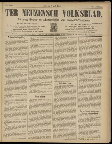 Ter Neuzensch Volksblad. Vrijzinnig nieuws- en advertentieblad voor Zeeuwsch- Vlaanderen / Zeeuwsch Nieuwsblad. Nieuws- en advertentieblad voor Zeeland 1916-07-08