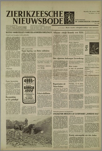 Zierikzeesche Nieuwsbode 1963-01-28