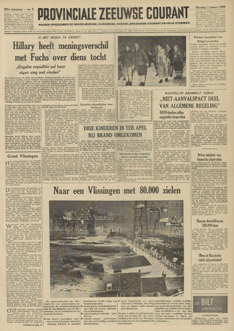Provinciale Zeeuwse Courant 1958-01-07