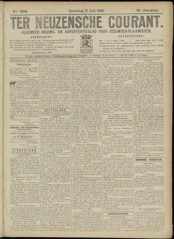 Ter Neuzensche Courant. Algemeen Nieuws- en Advertentieblad voor Zeeuwsch-Vlaanderen / Neuzensche Courant ... (idem) / (Algemeen) nieuws en advertentieblad voor Zeeuwsch-Vlaanderen 1920-07-31
