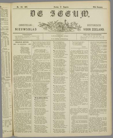 De Zeeuw. Christelijk-historisch nieuwsblad voor Zeeland 1897-08-31