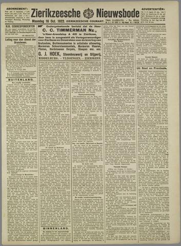 Zierikzeesche Nieuwsbode 1922-10-16