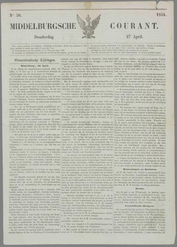 Middelburgsche Courant 1854-04-27