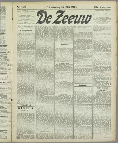 De Zeeuw. Christelijk-historisch nieuwsblad voor Zeeland 1920-05-12