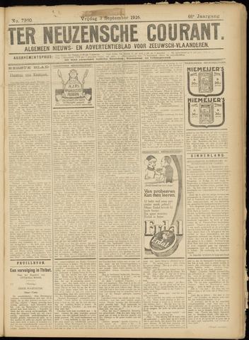 Ter Neuzensche Courant. Algemeen Nieuws- en Advertentieblad voor Zeeuwsch-Vlaanderen / Neuzensche Courant ... (idem) / (Algemeen) nieuws en advertentieblad voor Zeeuwsch-Vlaanderen 1926-09-03