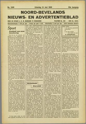 Noord-Bevelands Nieuws- en advertentieblad 1950-06-24