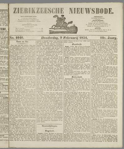 Zierikzeesche Nieuwsbode 1854-02-09
