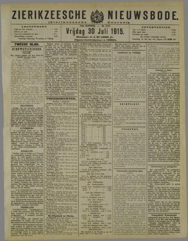 Zierikzeesche Nieuwsbode 1915-07-30