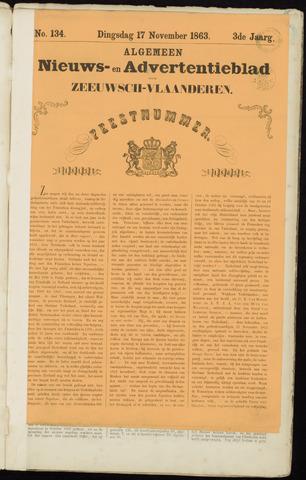 Ter Neuzensche Courant. Algemeen Nieuws- en Advertentieblad voor Zeeuwsch-Vlaanderen / Neuzensche Courant ... (idem) / (Algemeen) nieuws en advertentieblad voor Zeeuwsch-Vlaanderen 1863-11-17