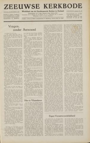 Zeeuwsche kerkbode, weekblad gewijd aan de belangen der gereformeerde kerken/ Zeeuwsch kerkblad 1958-12-12
