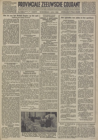 Provinciale Zeeuwse Courant 1942-07-01