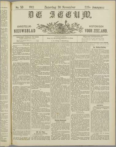 De Zeeuw. Christelijk-historisch nieuwsblad voor Zeeland 1912-11-30