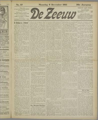 De Zeeuw. Christelijk-historisch nieuwsblad voor Zeeland 1915-12-06